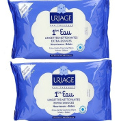 Uriage Baby 1st Water Extra-Gentle Cleansing Wipes 2 x 25