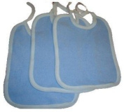 BounceAlong Inflatables New 3Pck Blue & White Small Tie Bibs - UK Manufacturer -British Made