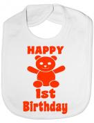 Happy 1st Birthday - Funny Baby/Toddler/Newborn Bibs - Baby Gift