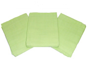Muslinz Premium Muslin Squares 100% Cotton Supersoft High Quality x 7.6cm GREEN