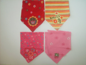 Bandana Bibs 4 Pack for girls dribble triangle bibs Bandana Bibs 4 Pack for girls muslin baby toddler newborn