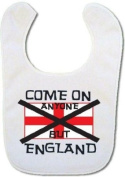 Baby bib with Come on anyone but England