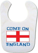 Baby bib with Come on England