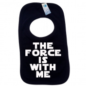 THE FORCE IS WITH ME PULLOVER BABY BIBS – Doubled Layered - (Black) - 100% Cotton Baby Newborn Toddler Perfect Gear Clothing Boy Girl Mum Dad Mummy Daddy Grow Gift Custom Present Birthday Christening play toy Cute – Machine Washable– by Fonfella