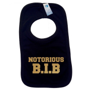 NOTORIOUS BIB PULLOVER BABY BIBS – Doubled Layered - (Black) - 100% Cotton Baby Newborn big hip hop old skool cool Toddler Perfect Gear Clothing Boy Girl Mum Dad Mummy Daddy Grow Gift Custom Present Birthday Christening play toy Cute – Machine Washable ..