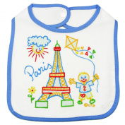 Souvenirs of France - Paris Bib - Colour : White and Blue
