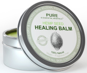Natural Eczema & Psoriasis Treatment - Organic Hemp Seed Healing Balm Offers Relief From Dry & Cracked Skin, Eczema, Psoriasis, Dermatitis & All Common Skin Conditions, 100% Natural, Vegan, Chemical & Fragrance Free