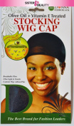 Donna Olive Oil + Vitamin E Treated Stocking WIG CAP #22200 Black