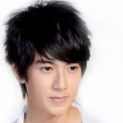 Taobaopit Cool Natural Short Straight Wigs-Black-Mens