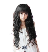 Taobaopit Curly Long Ladies Sexy Women's Wave Full Wigs Party WIG