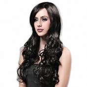 Taobaopit Long Synthetic Natural Black Curly Hair Wig Women's Wig
