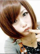 Taobaopit New Natural Short Straight Wigs-Light Brown-Ladies