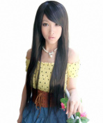 Taobaopit Special Natural Long Straight Wigs-Black-Ladies