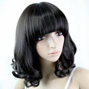 Youyoupifa New Designer Natural Medium Length Curly Wigs