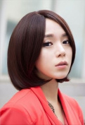 Sexy Short Straight Full Brown Hair Wigs