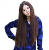 Taobaopit Special Natural Long Straight Wigs-Light Brown-Ladies