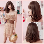 2013 Womens Fashion Sexy New Long Brown Wavy Full Curly Hair Wigs Cosplay Style