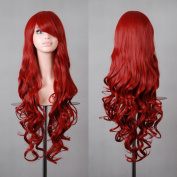 """Free Shipping 32"""" 80cm Long Hair Heat Resistant Spiral Curly 12 Colour Cosplay Wig+free Wig Cap"""