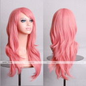 Cosplay Inshop 70cm Long Big Wavy Hair Heat Resistant Cosplay Wig . pink)