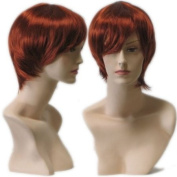 Auburn Red Female Wig