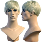 Blond College Cut David Wig