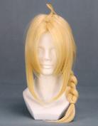 46cm Blonde Cosplay Wig with Braid -- Fullmetal Alchemist Edward Elric