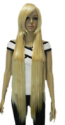 Yazilind Extra Long Women's Straight Halloween Costume Synthetic Hair Full Wig