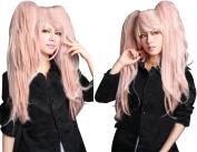 Anangelhair +Free Hair Cap Danganronpa Junko Enoshima Party Hair Cos Cosplay Wig Hallowmas