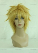 CosplayerWorld Cosplay Wigs Ao no Exorcist shima renzou Wig For Convention Party Show Golden Blond35cm 140g WIG-023E2