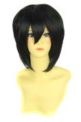 FENGSHANG Beauty Kisitani Shinra Party and Short Cosplay Wigs Black 36cm