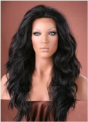 Virgin Indian Remy Wavy Lace Front Wig Grade AAA