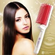 Hair Brush Lustrous Ceramide Macadamia Nut Oil Japan New Portable Folded Beauty