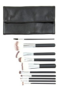 Crown Brush - 10-Piece Black Syntho Brush Set with Case - Set 516