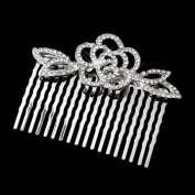 Daniellle Antique Rhinestone Flower Comb Wedding Bridal Special Occasion