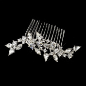 Sophie Antique Rhodium Clear Rhinestone Wedding Bridal Special Occasion Comb