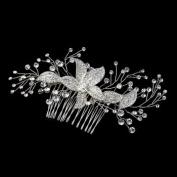 Johanna Rhinestone Floral Sprig Hair Comb Wedding Bridal Special Occasion