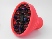 Luseta Hair Dryer Diffuser Innovative Folding Space Saver Light Weight - Red