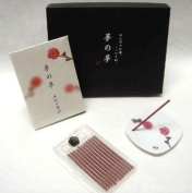 Pink Plum Flower Gift Set - Nippon Kodo Yume-No-Yume (Dream of Dreams) - Incense and Ceramic Plate