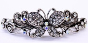 New Fashion Women's Hair Barrette with Butterfly Design - White Colour