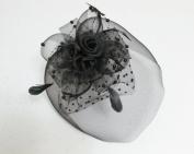 Elegant Cocktail Fascinator Headband --- Black By Pixiheart