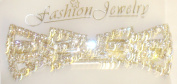 Genuine Gold Plated Multi Colour Simulated Jades Studded Hair Clip for Women and Teens