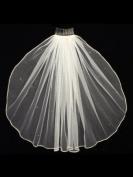 1T 1 Tier Rhinestones Crystal Sattin Rattail Edge Bridal Wedding Veil