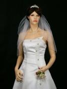 2t 2 Tier Pencil Edge Bridal Wedding Veil