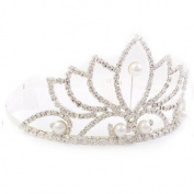 Bridal Wedding Jewellery Crystal Rhinestone Pearl Beautiful Classic Hair Tiara