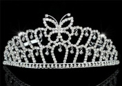 Bridal Wedding Pageant Butterfly Tiara use. Crystal
