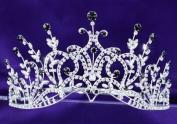 Bridal Wedding Pageant Black Crystal Tall Tiara Crown