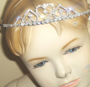 Hrclip066 Genuine Sterling Silver Plated with Sparkling Rhinestone Crystals Loaded Tiara for Prom Communion
