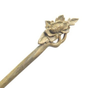 Crystalmood Handmade Wood Carved Hair Stick Begonia Flower