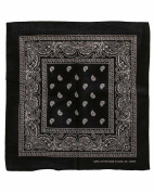 Black Paisley Designed Bandana 100% Cotton