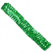 3 Row 3.2cm Hologram Stretch Sequin Headband - Green
